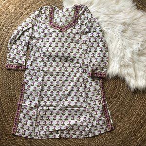 Vintage block print tunic